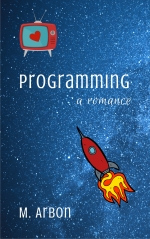 Book cover showing television and spaceship against a starry background